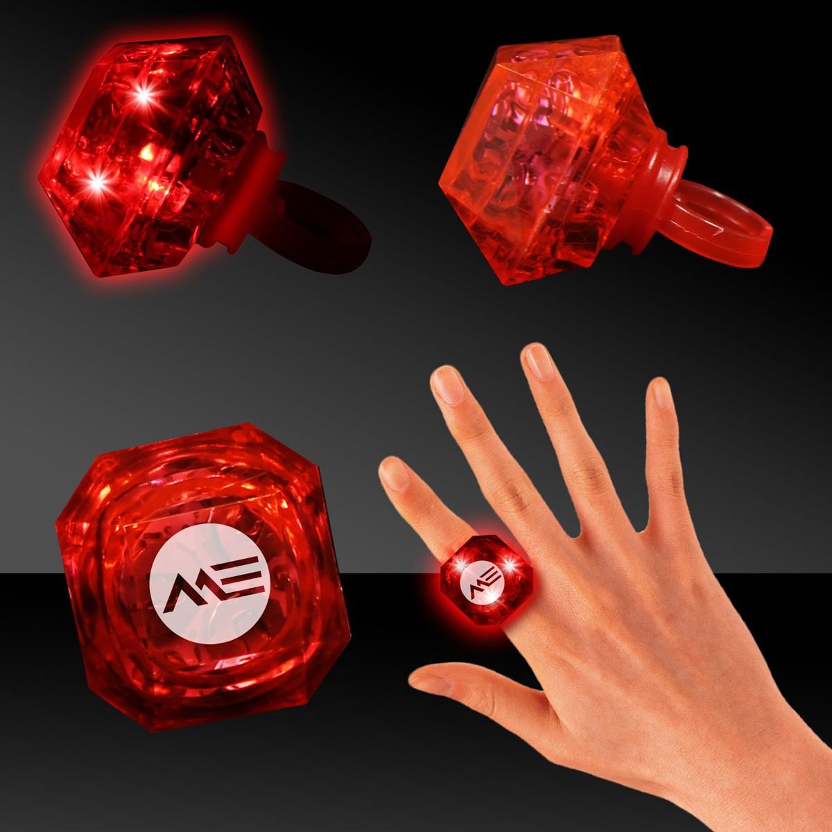 Red Light Up Diamond Rings
