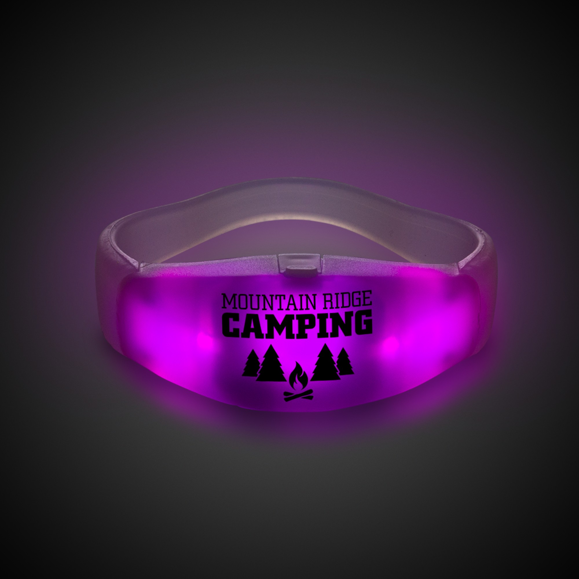 Pink LED Stretchy Bangle Bracelets