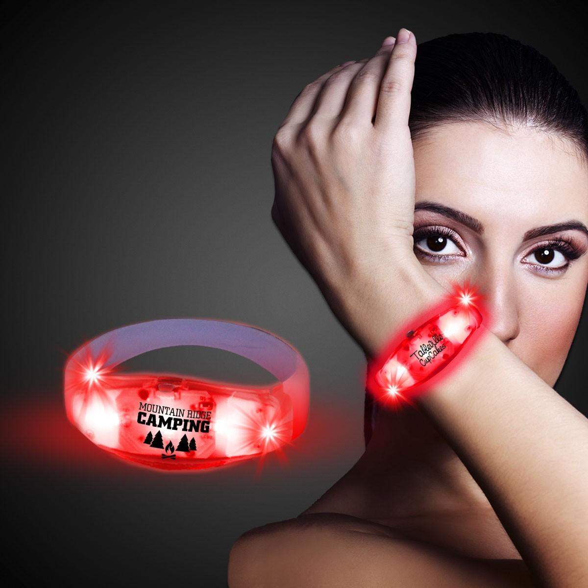 Red LED Stretchy Bangle Bracelets