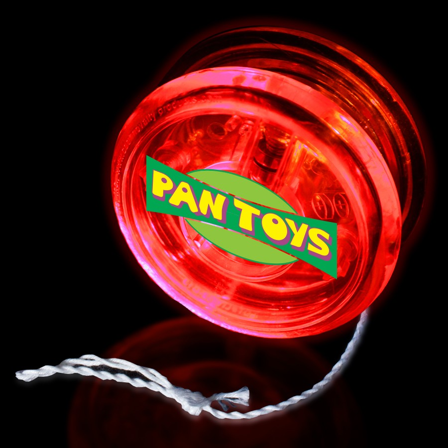 """2"""" - Clear with RED LED Yoyo"""