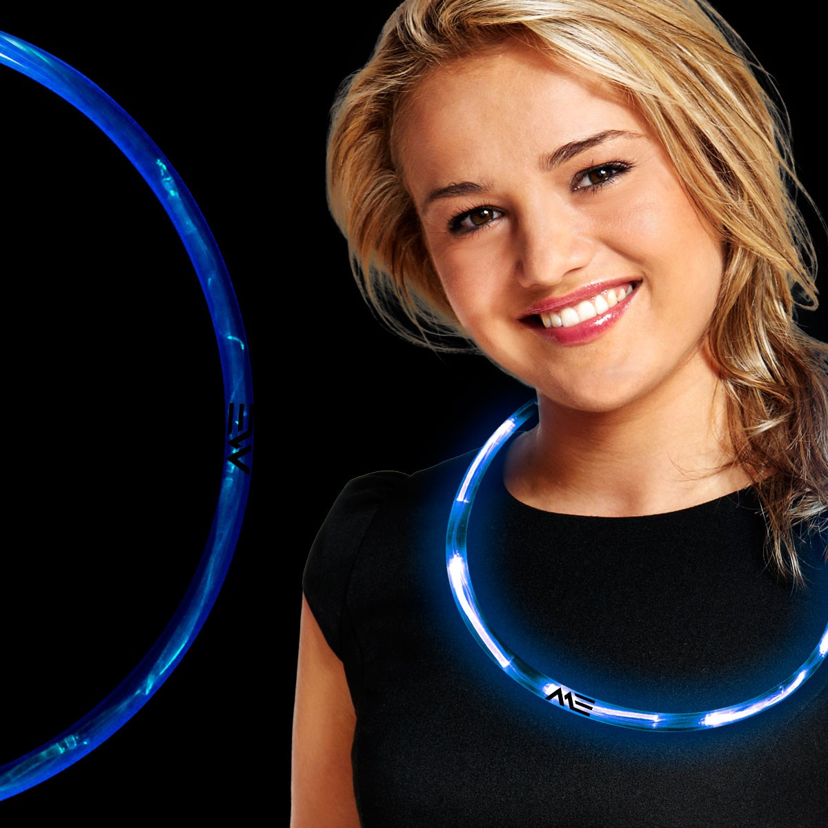 Blue Neon LED Necklaces