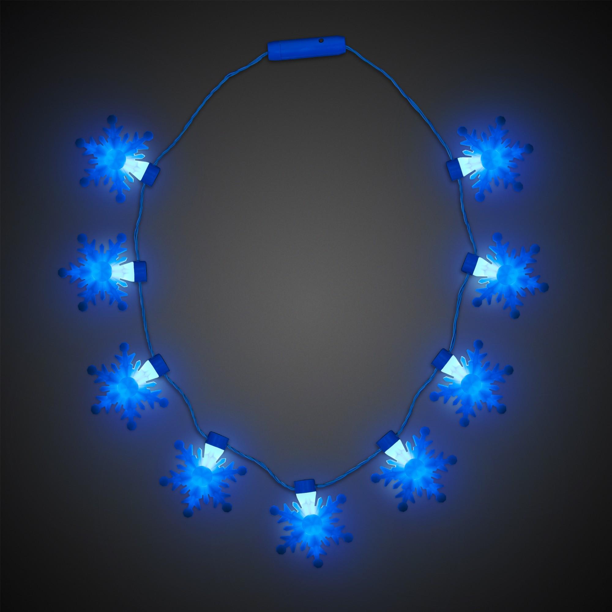 Led Snowflake Necklace Badges Bracelets Necklaces