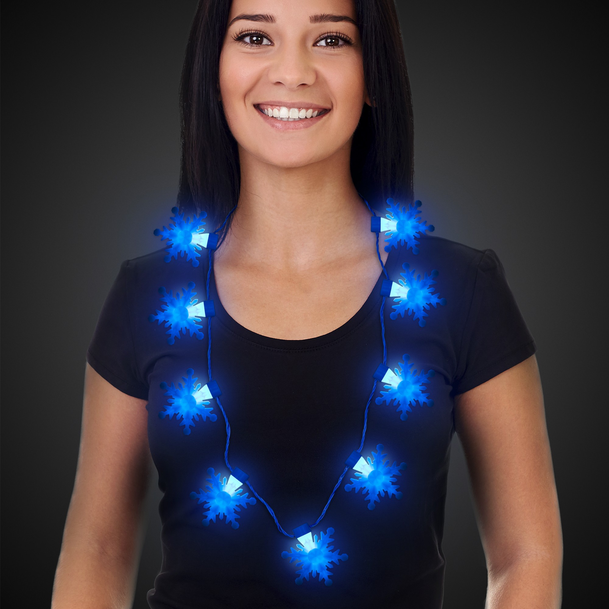 LED Snowflake Necklace