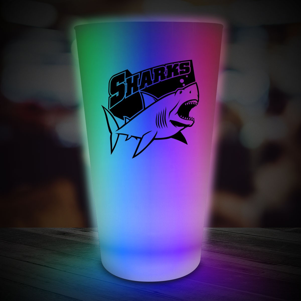 Multi Color LED Pint Glass