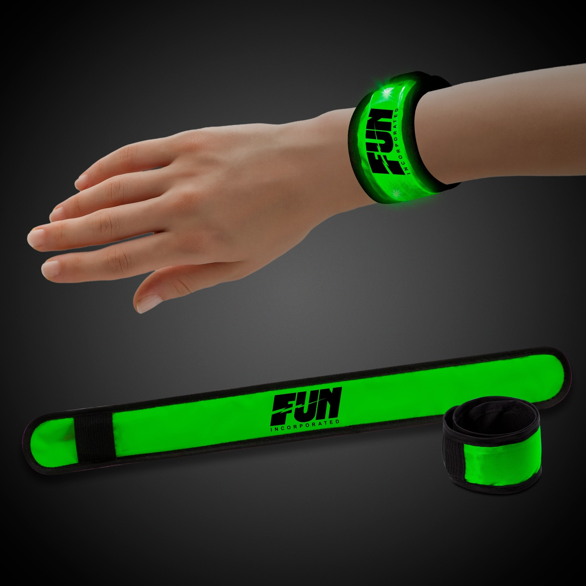 Green LED Slap Bracelet