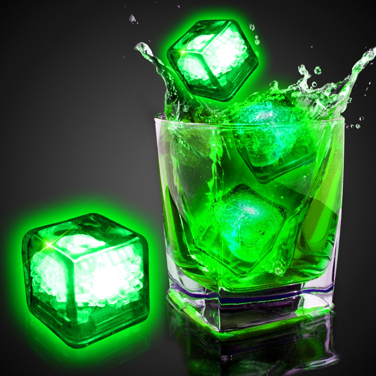 Blank Green Liquid Activated Light Up Ice Cubes - Green - Shop by Color