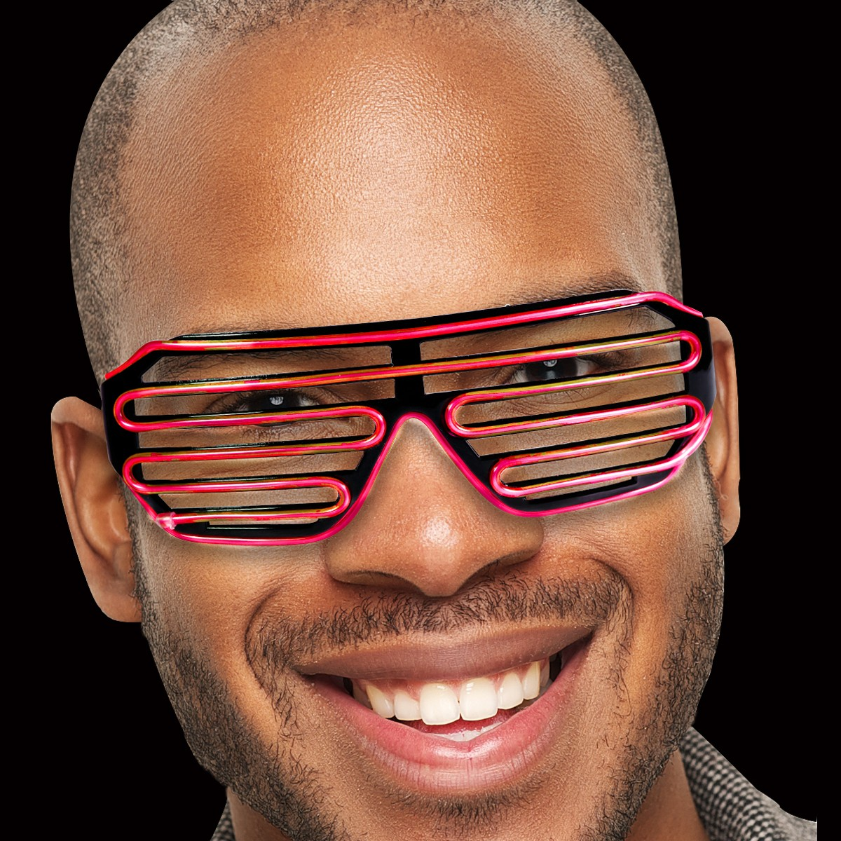 Red LED Slotted EL Sunglasses