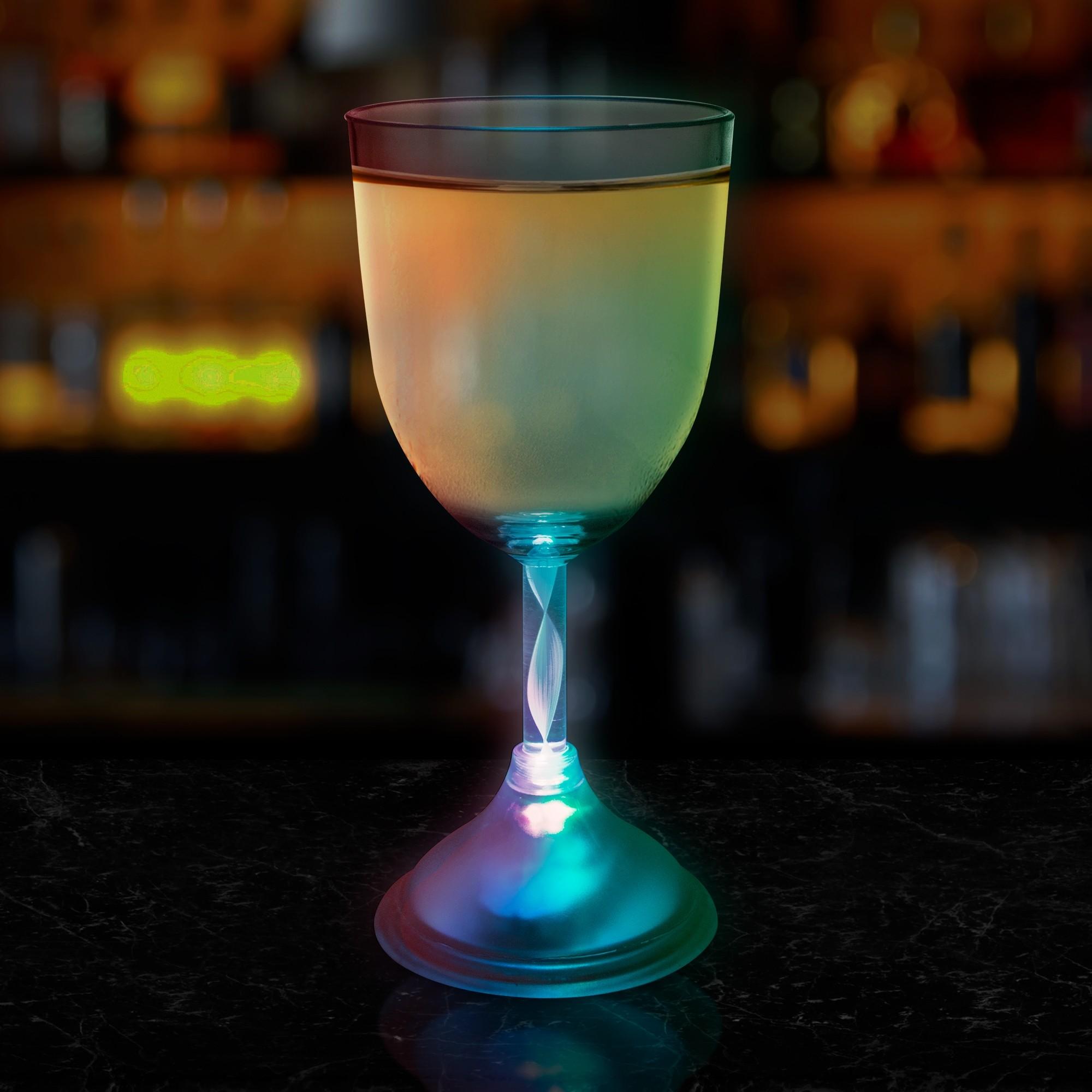 Light Up 10 Ounce Wine Glass Bar Supplies Drinkware