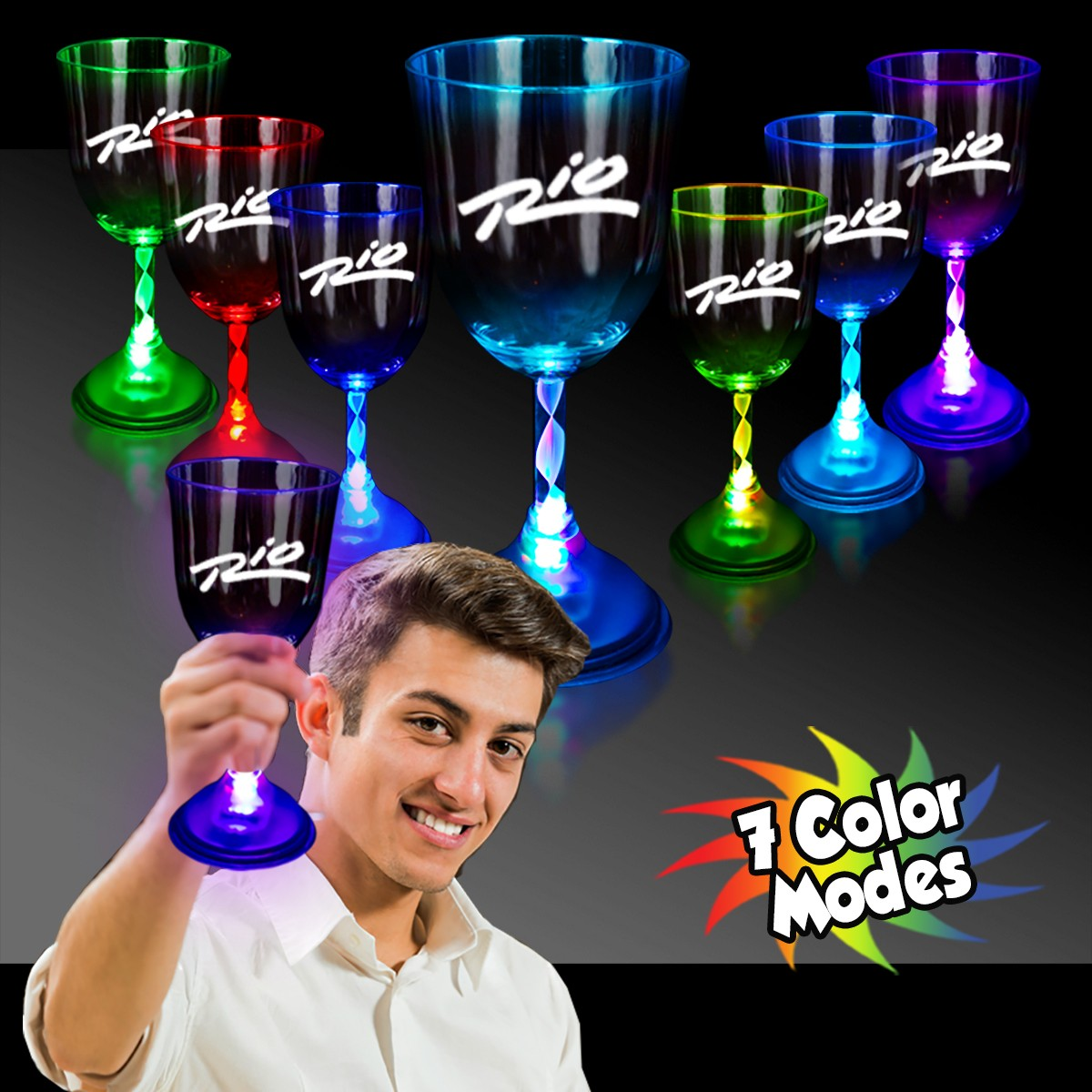 Light Up 10 Ounce Wine Glass