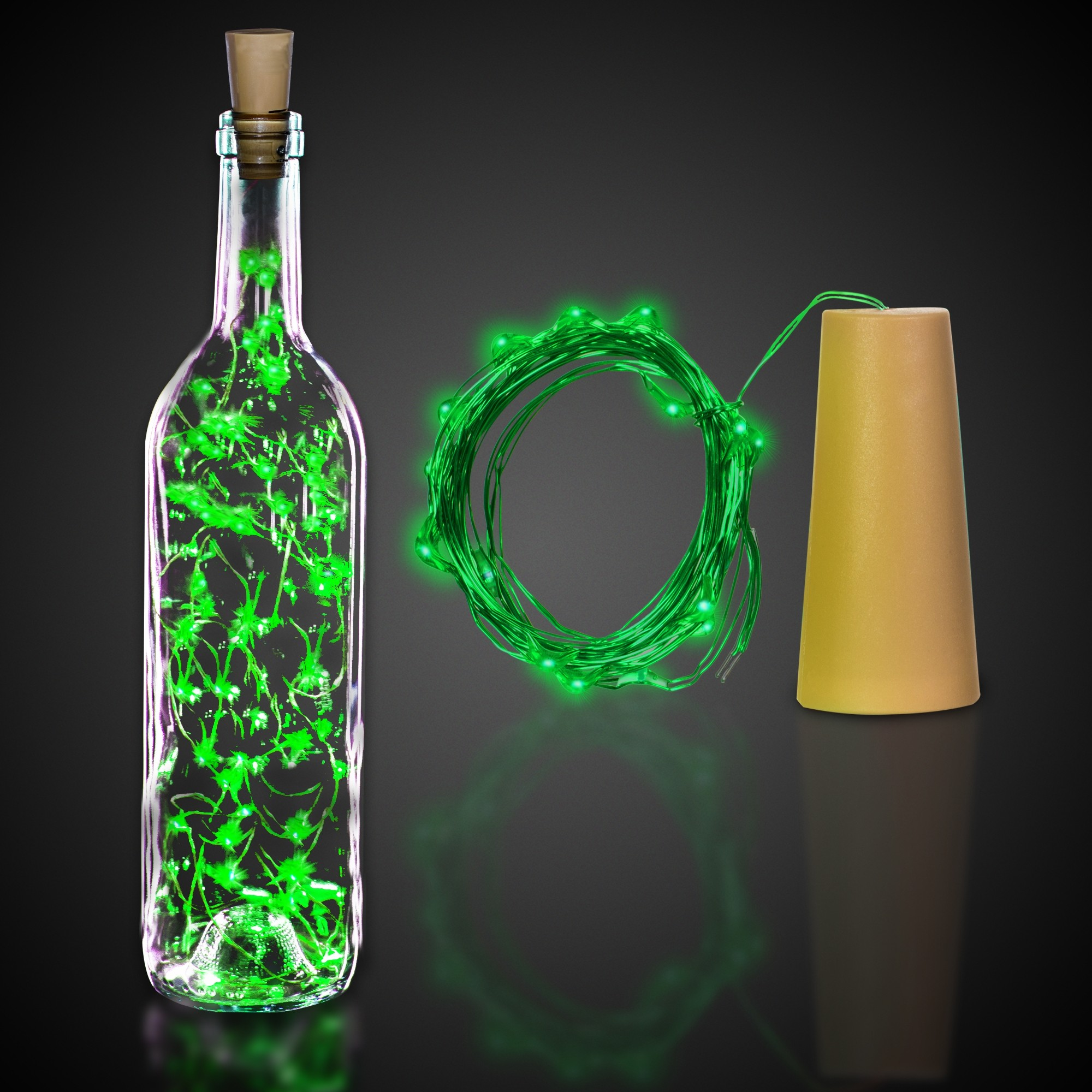 Green Cork String Light Set