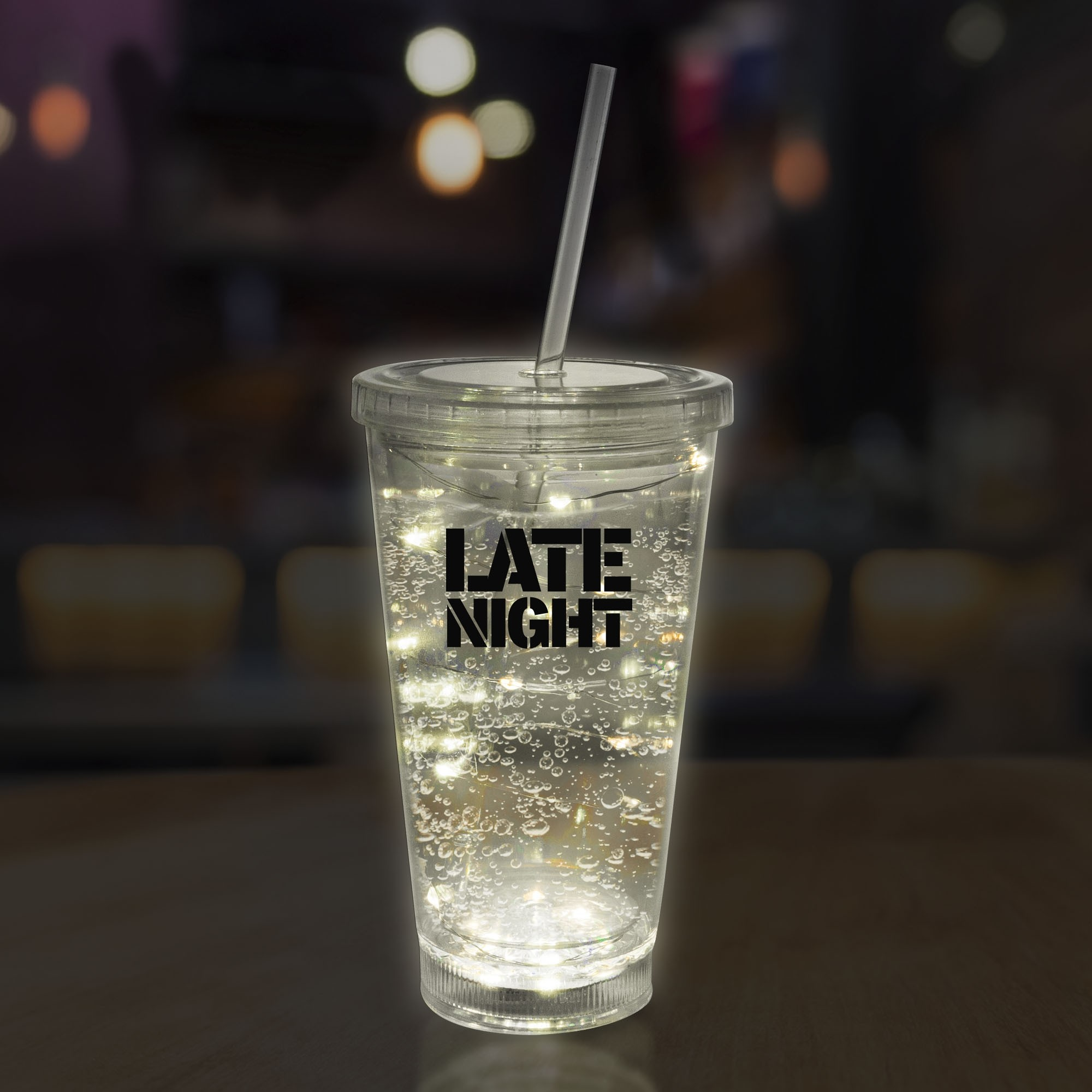 White String Light 16oz LED Cup