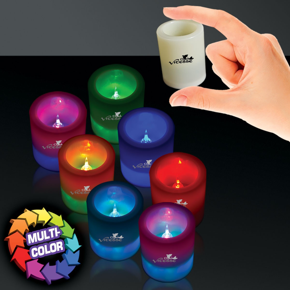 7 Color LED Votive Candle - 2 1/2 Inch