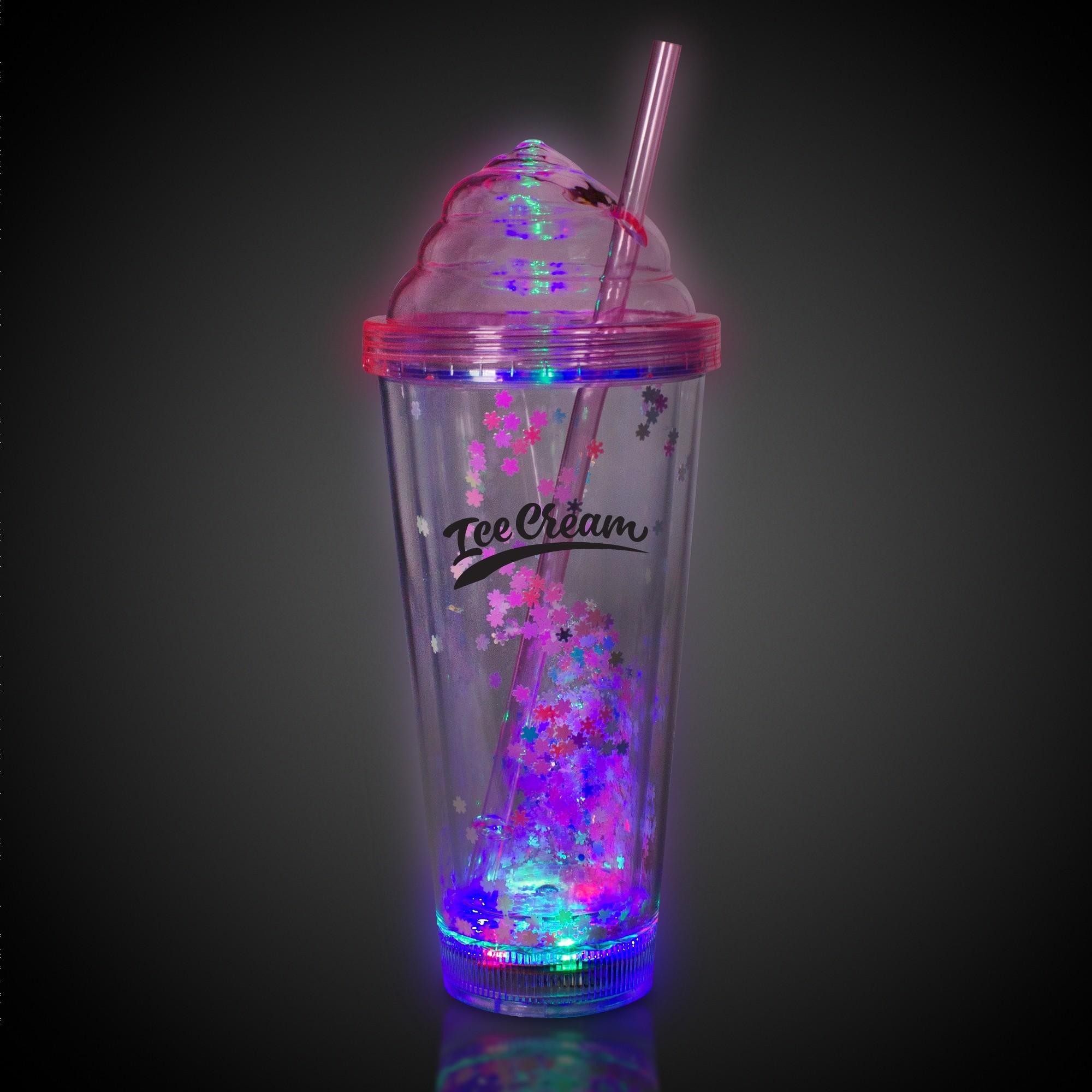 Pink Ice Cream LED Tumbler