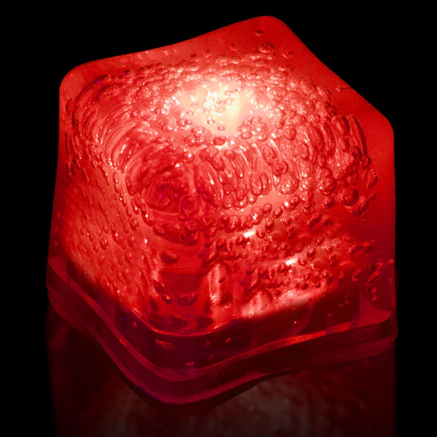 Blank RED Lited Ice Cubes
