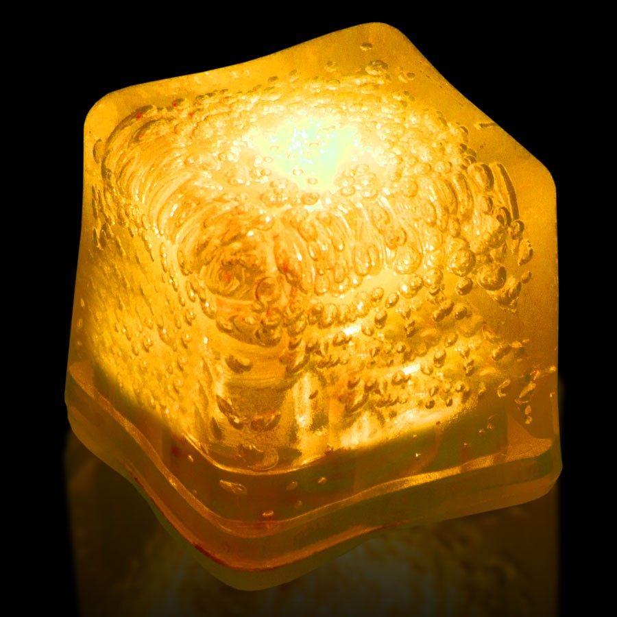 Blank YELLOW Lited Ice Cubes