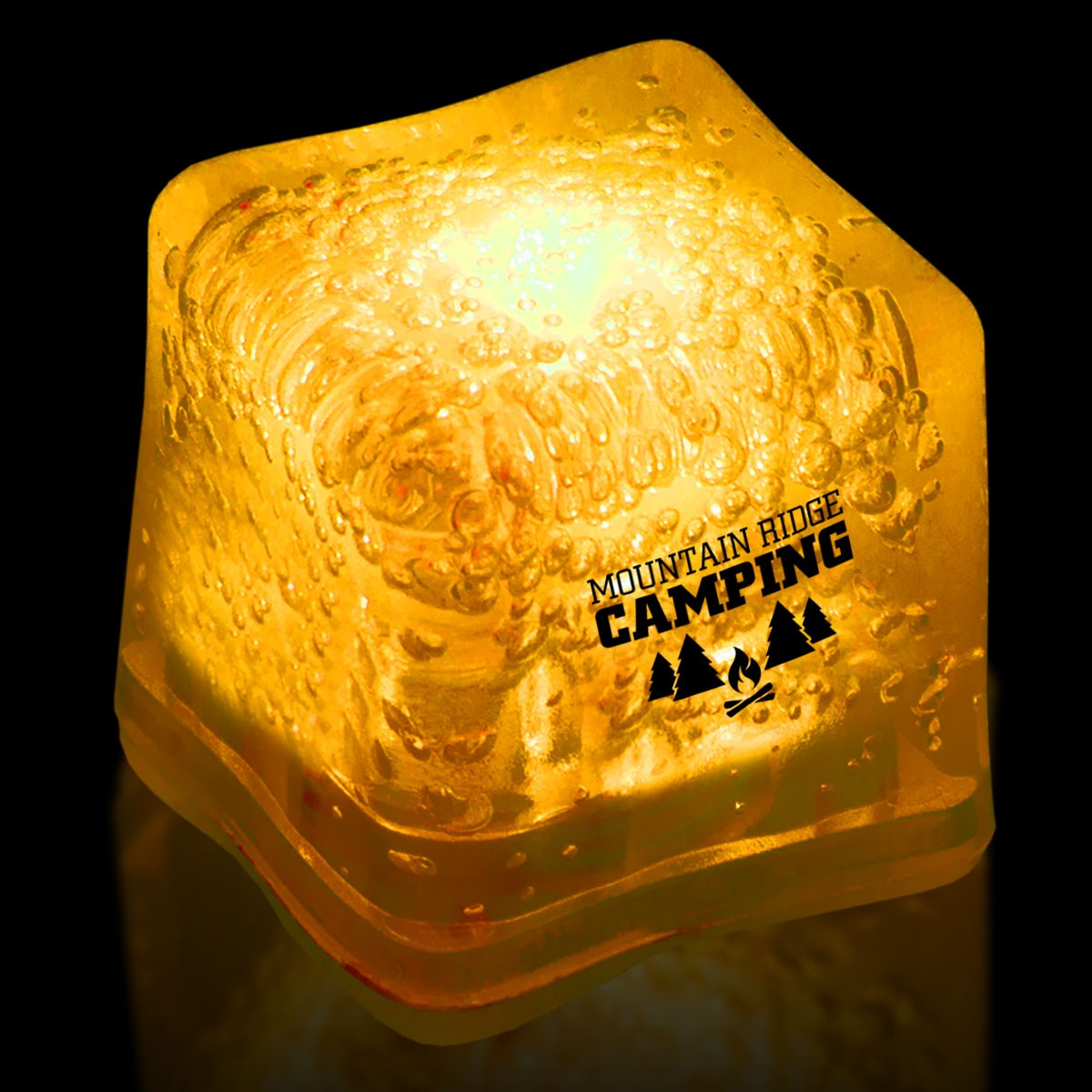 Imprinted YELLOW Lited Ice Cubes