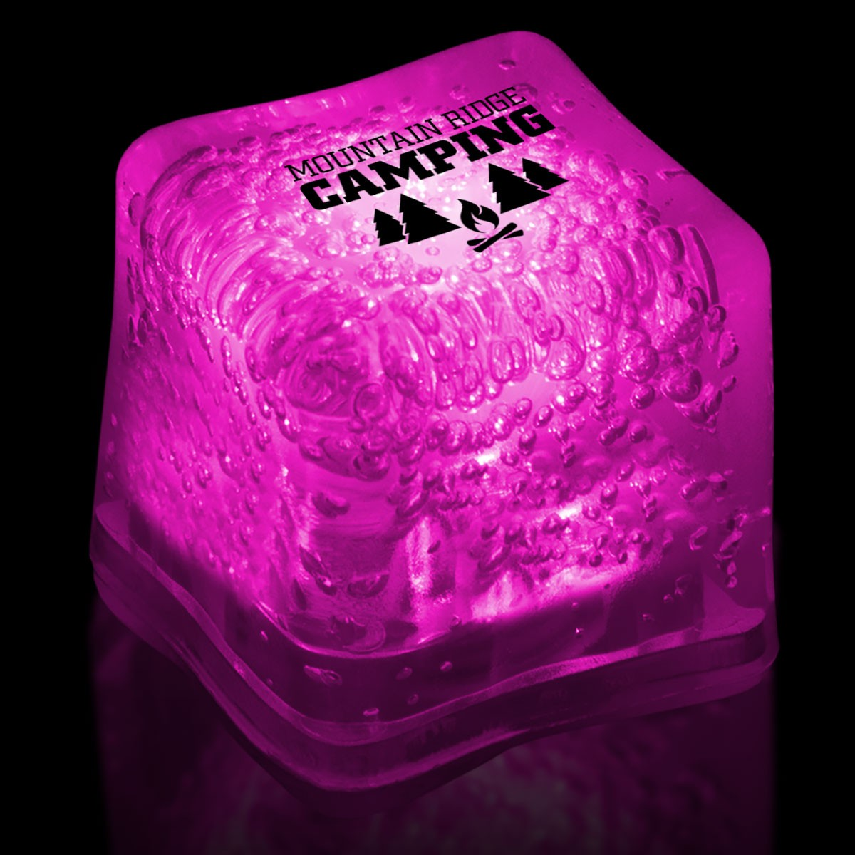 Imprinted PINK Lited Ice Cubes