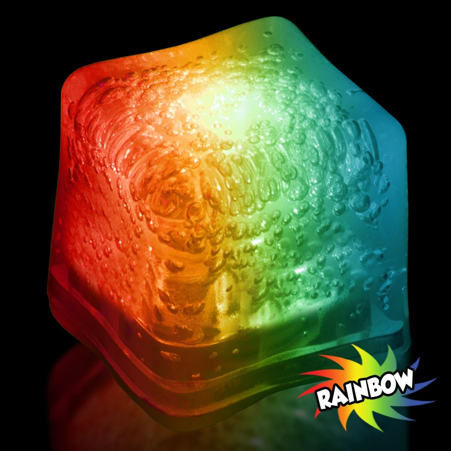 Blank RAINBOW Lited Ice Cubes