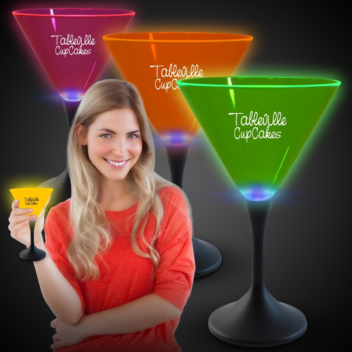 Neon LED Martini Glasses LED Cup