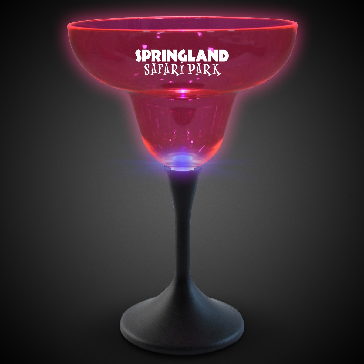 Pink Neon LED Margarita Glasses