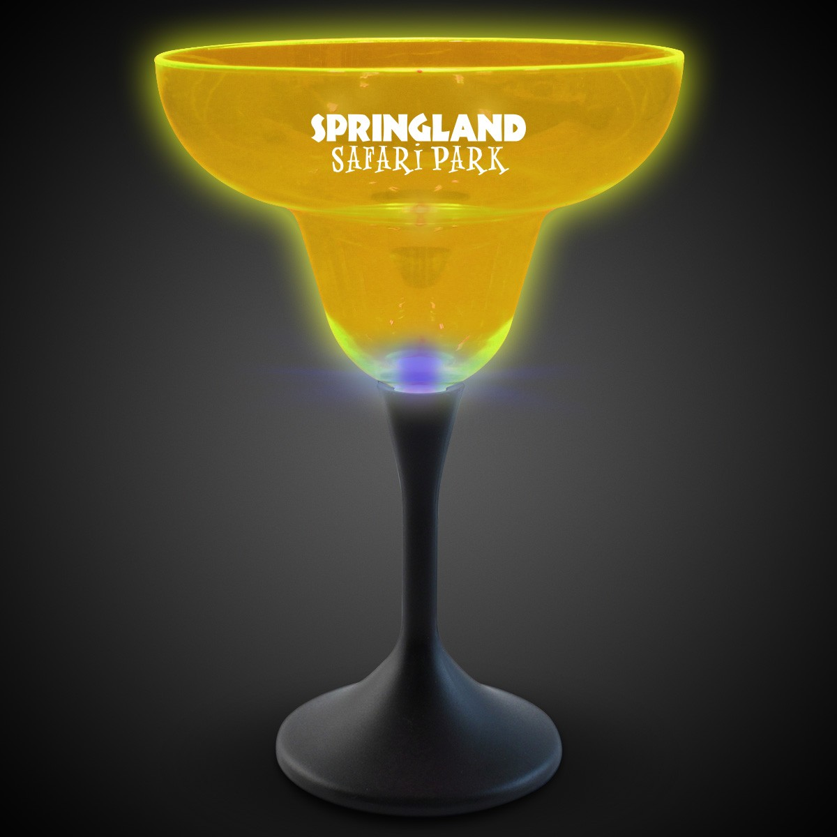 Yellow Neon LED Margarita Glasses