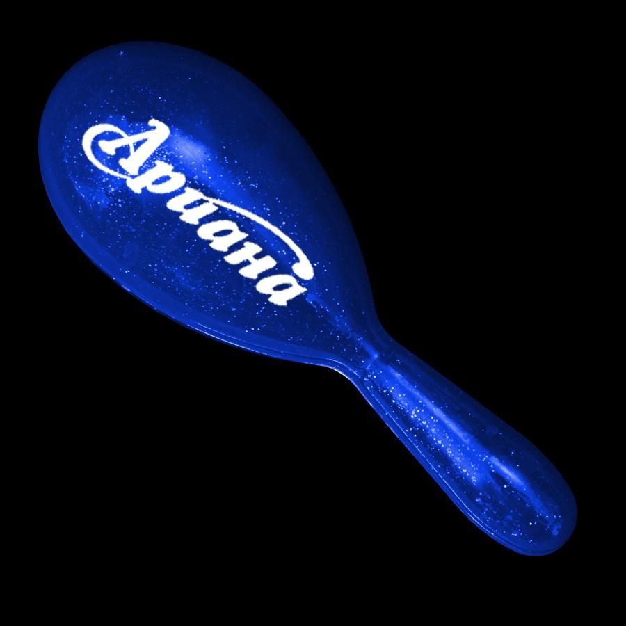 Blue 7 Inch Glitter Maraca