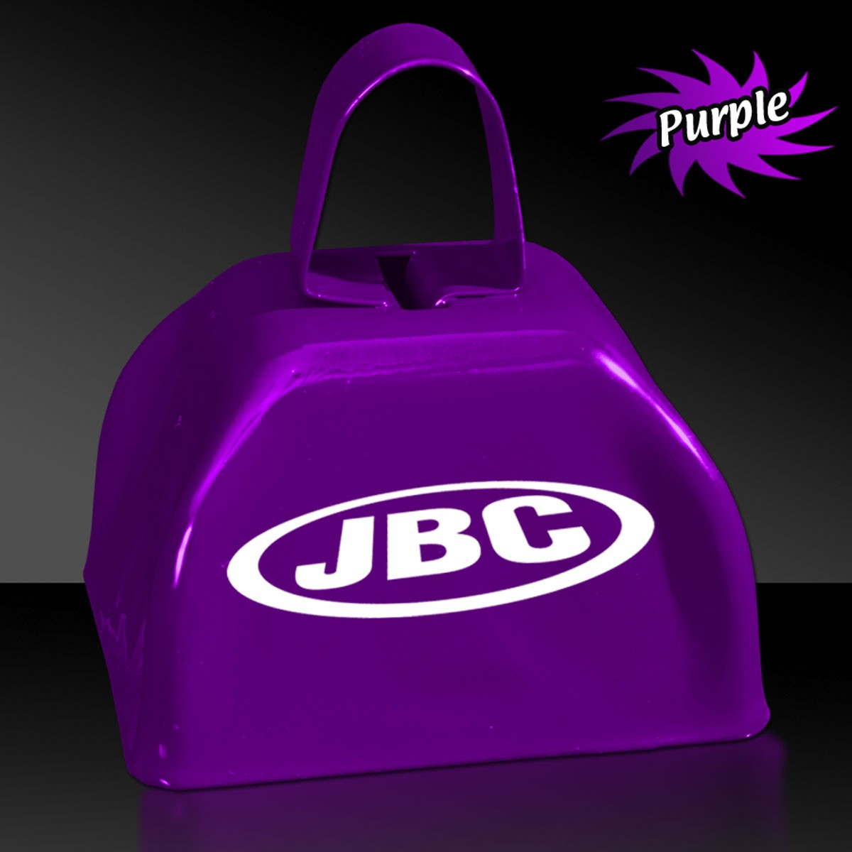 "3"" Purple  Metal Cowbells"