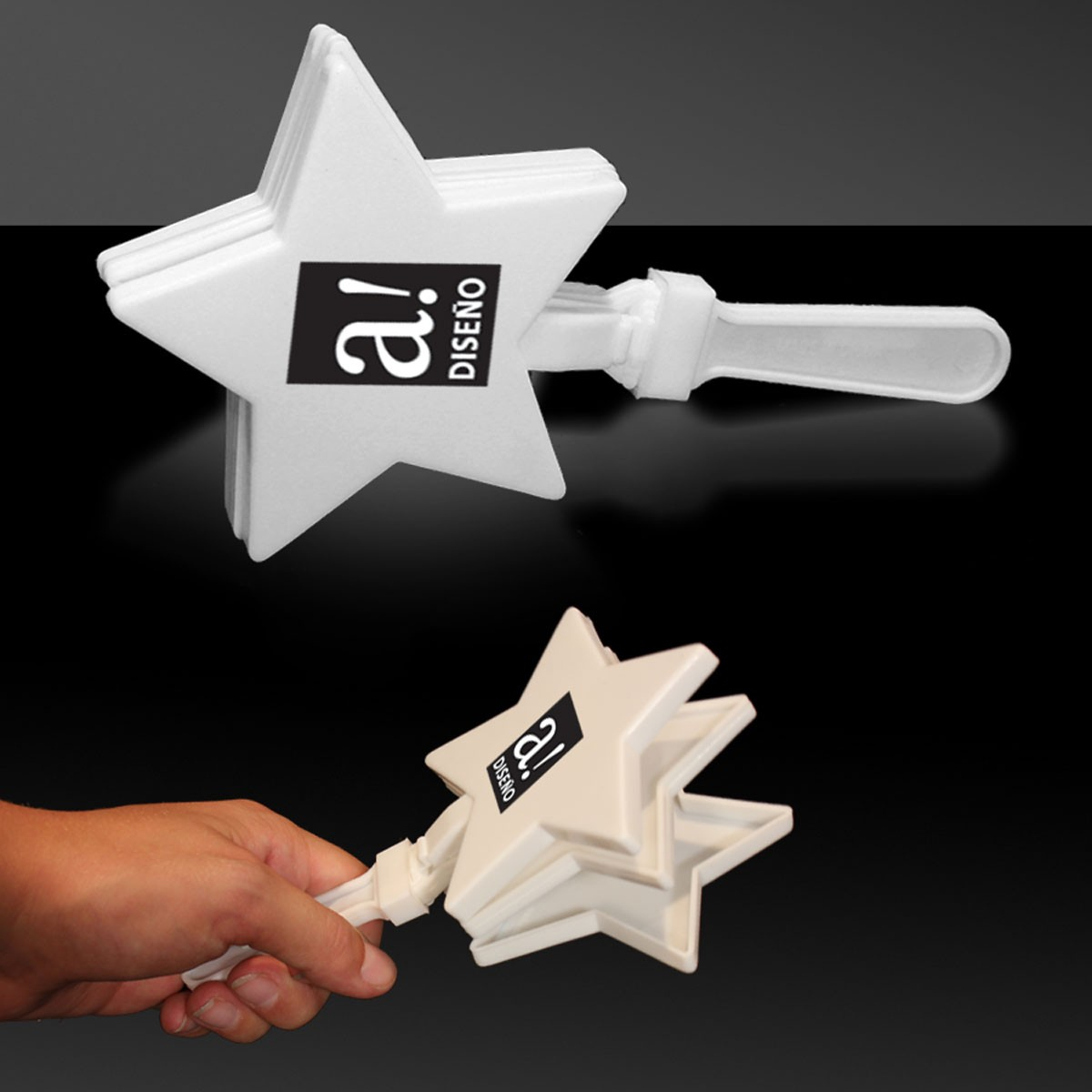 White Star Shape Hand Clappers