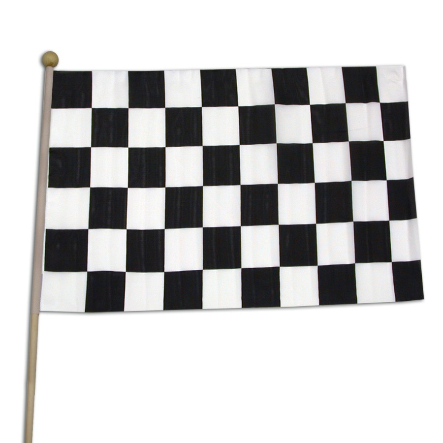 "Checkered Race Flag <br>12"" x 18""</br>"
