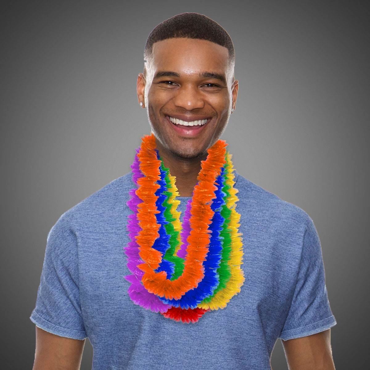 """Assorted Color Plastic Lei's - 2"""""""