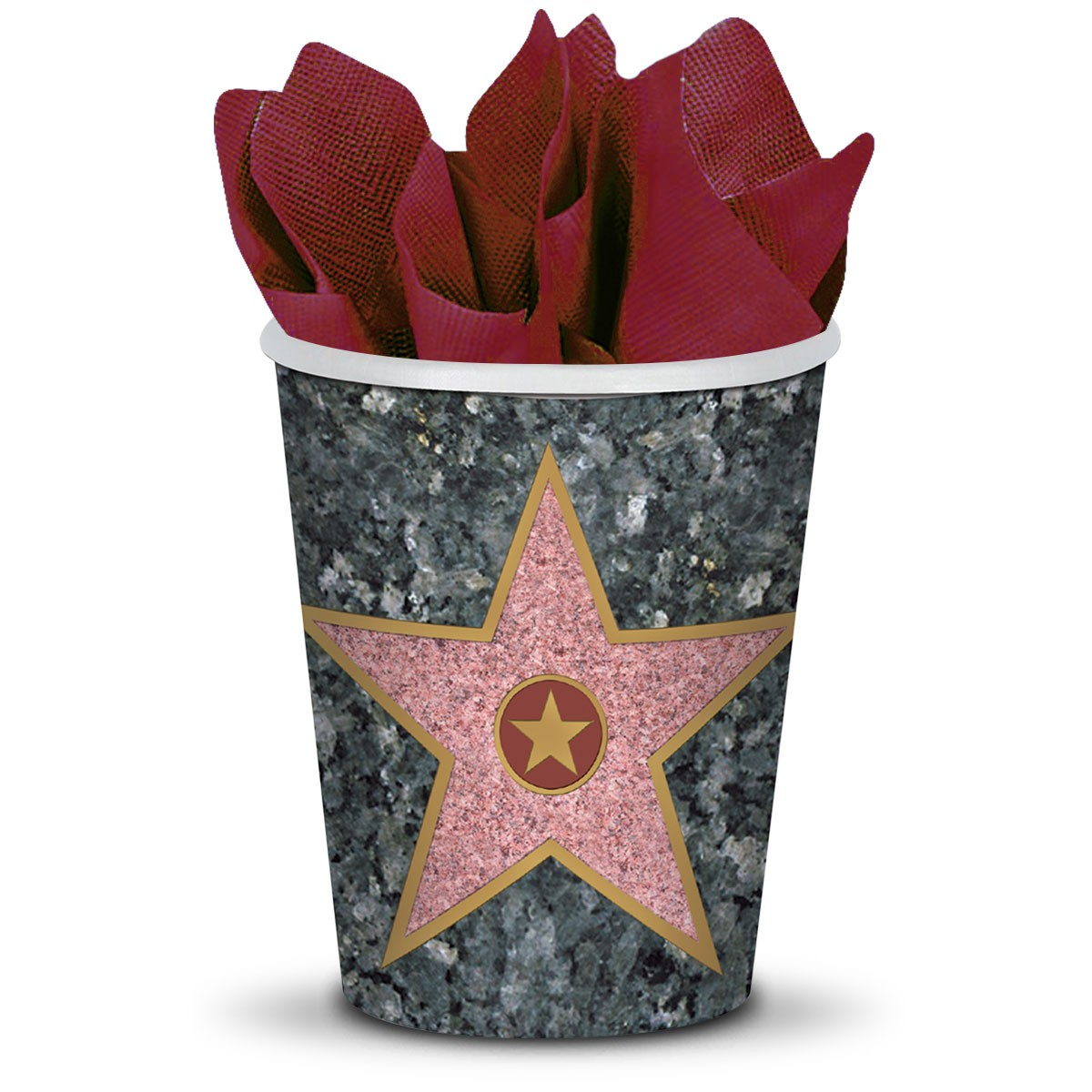 Walk of Fame Star 9 Oz Cups - 8 Pack