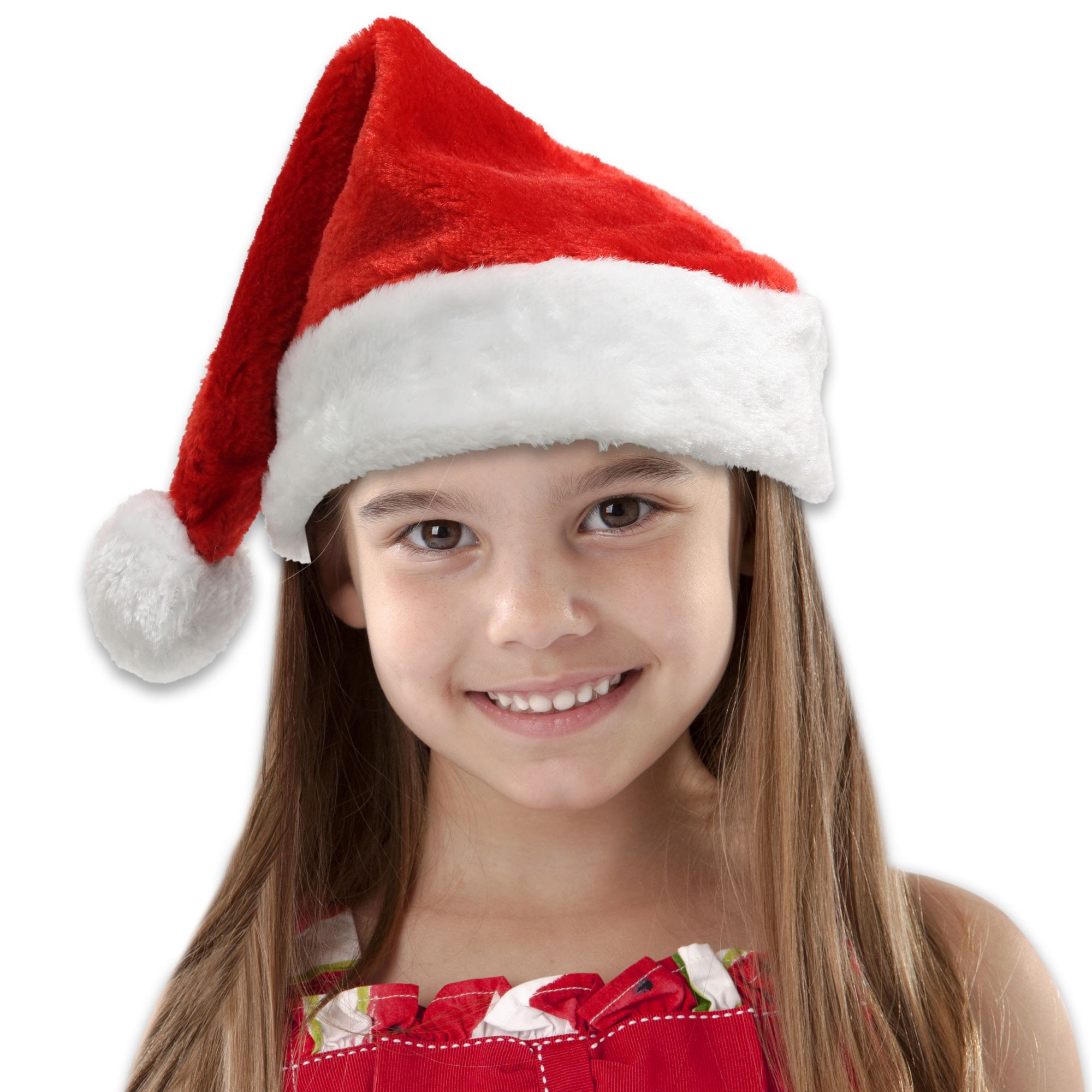 Children's Plush Santa Hat