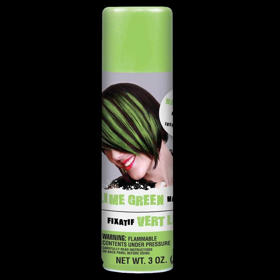 Lime Green Colored Hair Spray