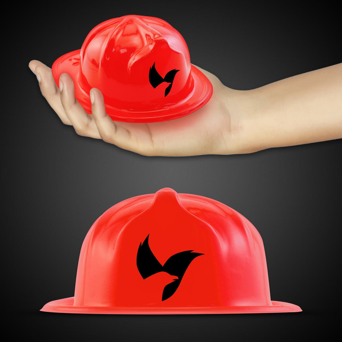 Mini Red Plastic Firefighter Hat