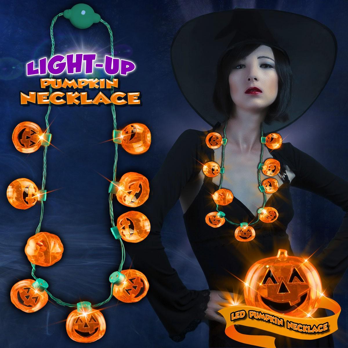 Pumpkin LED Necklace