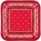 Red Bandana  9'' Plates
