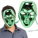Green Metallic Full Face Mask