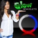 "Red/White/Blue Superior 8"" Glow Bracelets"