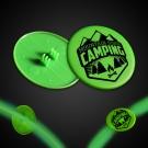 Green Clip On Plastic Medallion