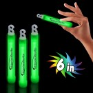 "Green 6"" Glow Sticks"