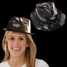 Black Plastic Fedora Hat