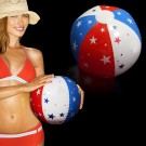 Patriotic Stars Inflatable Beach Ball - 16 Inch