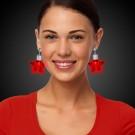 Red Star LED Clip On Earrings