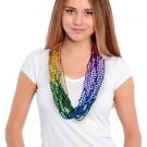 Rainbow Segmented Mardi Gras Beads