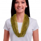 "Gold 33"" 12mm Bead Necklaces"
