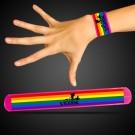 Pink Rainbow Pride Slap Bracelet