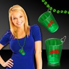 Green Shot Glass Medallion