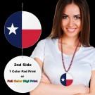 "Texas Flag Plastic Medallions2 1/2"""