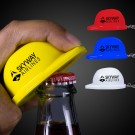 Plastic Construction Hat Bottle Opener Key Chains