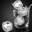 White Imprinted Liquid Activated Light Up Ice Cubes